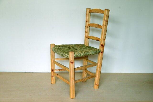 ゴッホの椅子改 ダイニング イグサ編みの画像1枚目