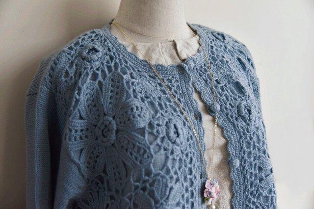 【1着限定】お花たっぷり ウール・ セーター ニット JND001の画像1枚目