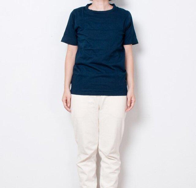藍染 Tシャツ size1 青藍の画像1枚目