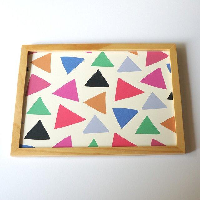 「cheerful triangle ( pink )」A4ポスターの画像1枚目