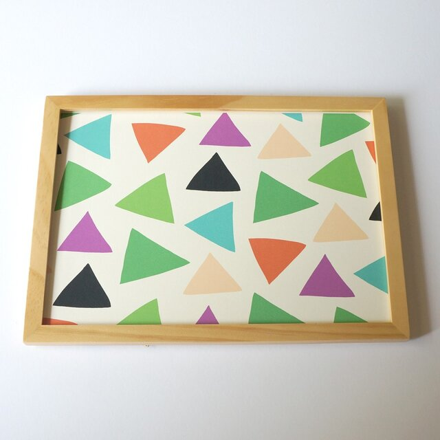 「cheerful triangle ( green )」A4ポスターの画像1枚目