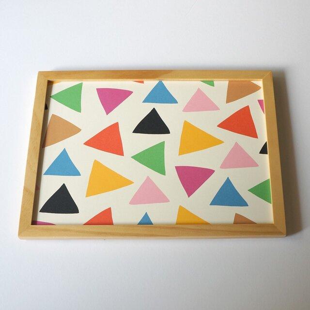 「cheerful triangle ( colorful )」A4ポスターの画像1枚目