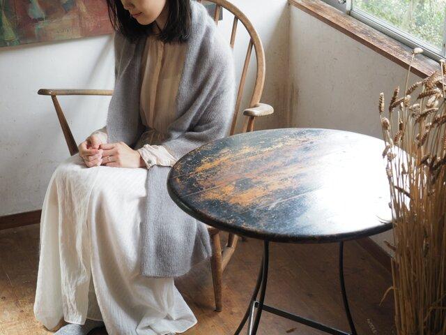 【再入荷】enrica mohair&silk gown / icegrey(natural dye)の画像1枚目