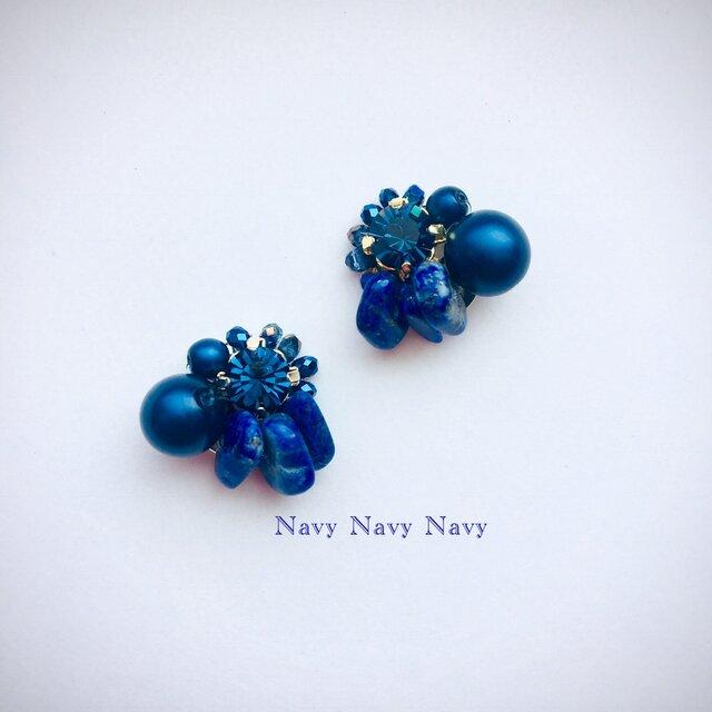 Navy Navy Navyピアスの画像1枚目