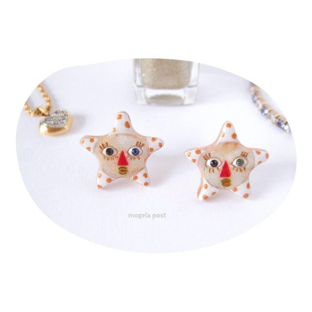 【14kgf】little twin stars♡ふたごのお星様の耳飾りの画像1枚目