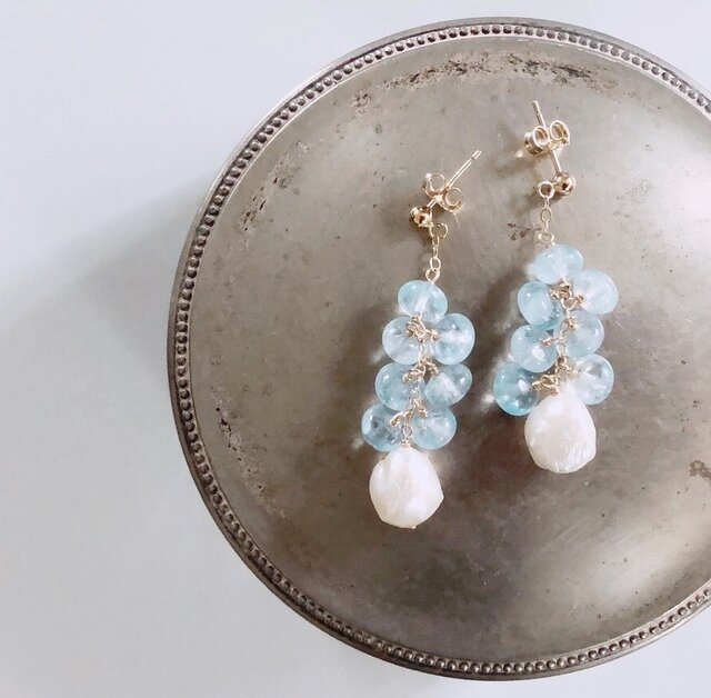 aquamarine*pearl*pierceの画像1枚目