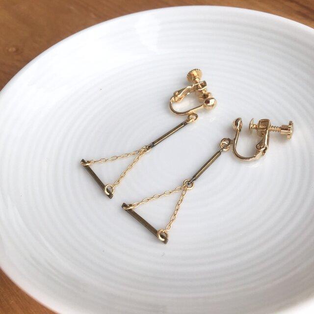 gold earring/pierceの画像1枚目