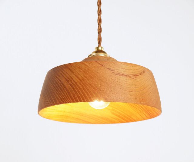 木製 ペンダントランプ 欅(ケヤキ)材4の画像1枚目