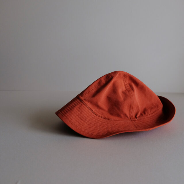 ◆ sale ◆ テントな帽子 - コットンナイロン レンガオレンジ -の画像1枚目