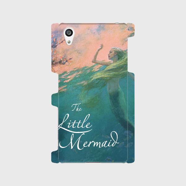 童話絵本(人魚姫)①  Galaxy S8 Xperia XZ premium 等 大サイズスマホ対応 ハードケースの画像1枚目
