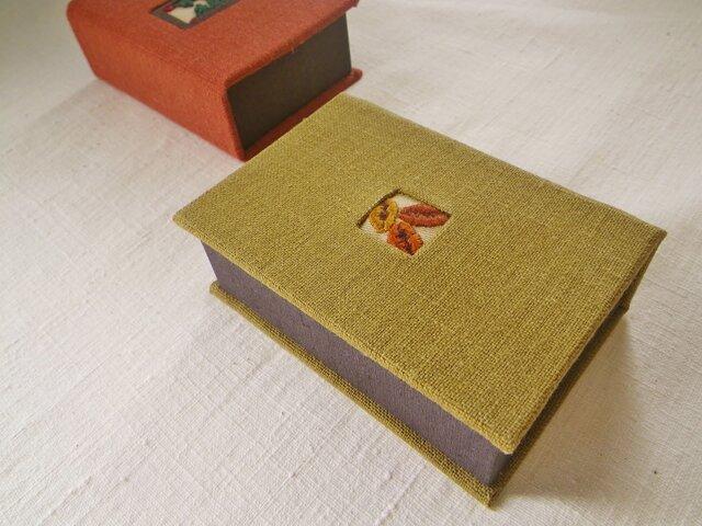 ◆再販◆リネン小箱『コーヒーブレイク』の画像1枚目