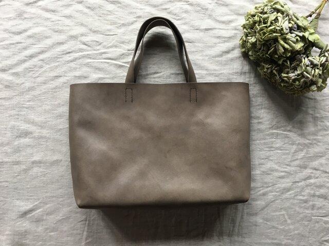 『 霞 - soft 』革袋 grey brown M2の画像1枚目