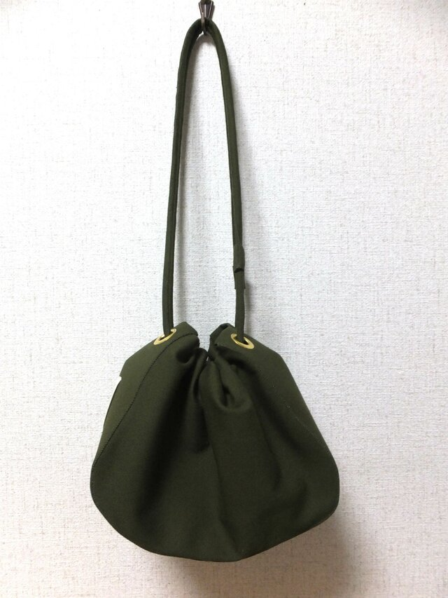 maru bag 《Olive Green》の画像1枚目