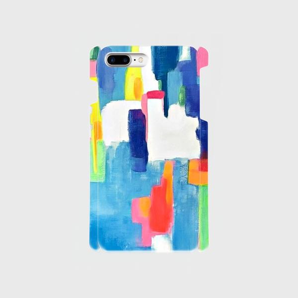 """アートペイント """"虹のはじまり""""  iphone 6plus/7plus/8plus 専用  抽象画の画像1枚目"""