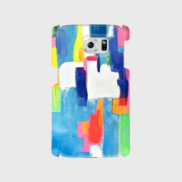 """アートペイント """"虹のはじまり""""  xperia、Galaxy 他多機種対応 ハードケース 抽象画の画像1枚目"""