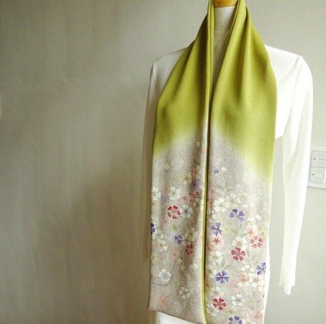縮緬を楽しむスカーフの画像1枚目
