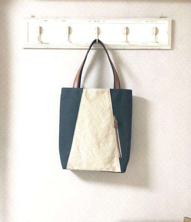 「Michi  bag」*トートバッグ*〈深緑〉の画像1枚目