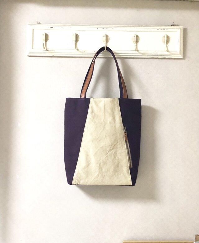 「Michi  bag」*トートバッグ*〈 紫色〉の画像1枚目