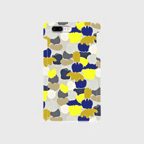 北欧テイスト ペイントカモフラージュ(イエロー) iphone 6plus/7plus/8plus 専用  ハードケースの画像1枚目