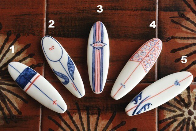 サーフボードの箸置き(ロング)の画像1枚目