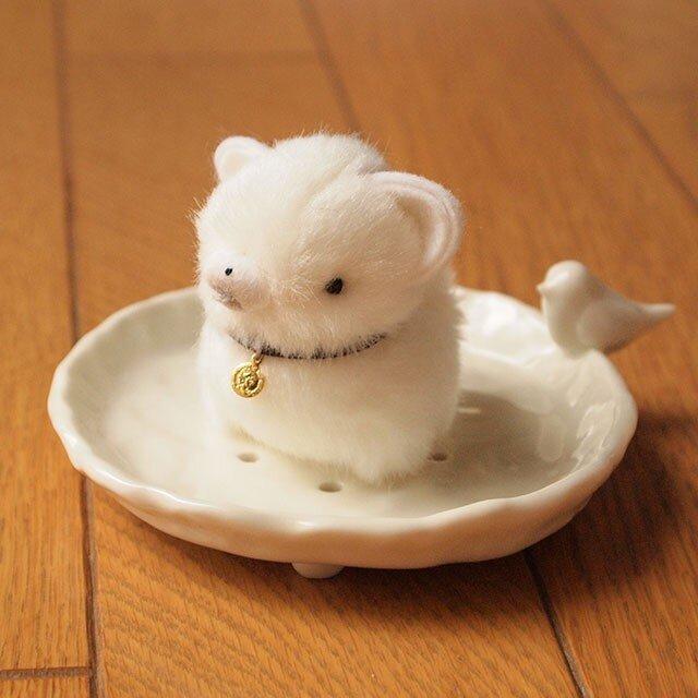 【再販】ちいさなぬいぐるみ柴犬*白の画像1枚目