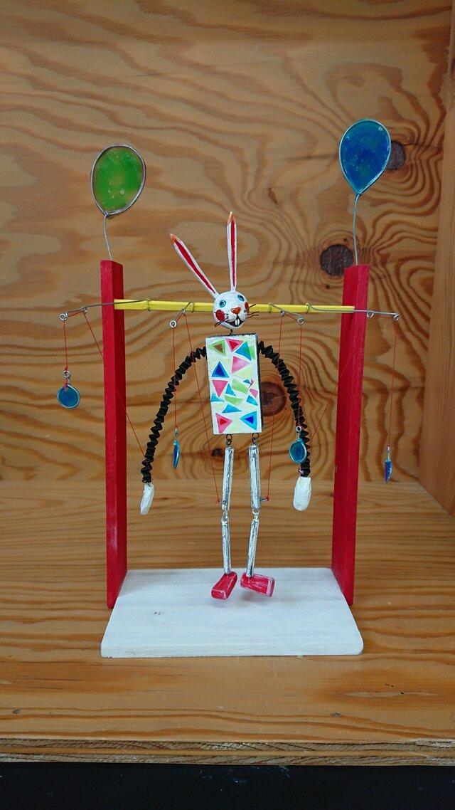 うさぎの操り人形の画像1枚目