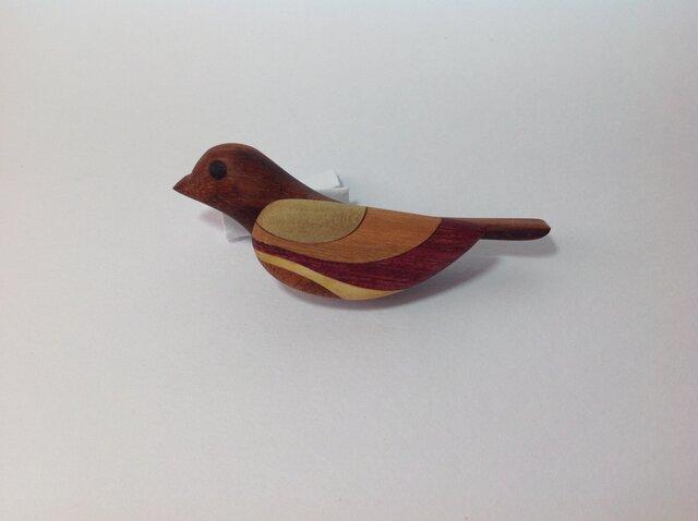 寄木のブローチ ( 鳥 )の画像1枚目
