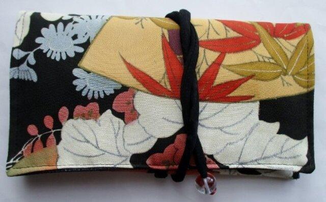 色留袖で作った和風財布・ポーチ 3792の画像1枚目