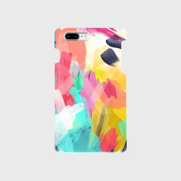 """アートペイント """"なないろ""""  iphone 6plus/7plus/8plus 専用  ハードケースの画像1枚目"""