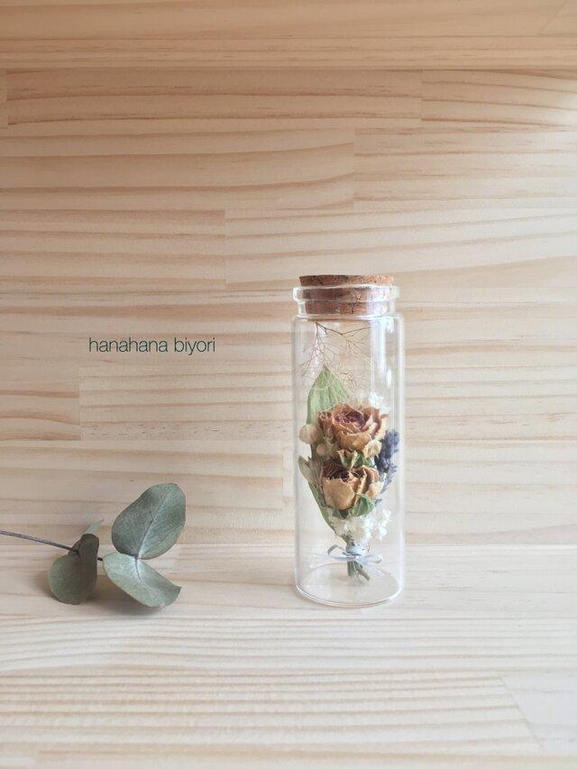 ミニバラのミニミニブーケの小瓶の画像1枚目