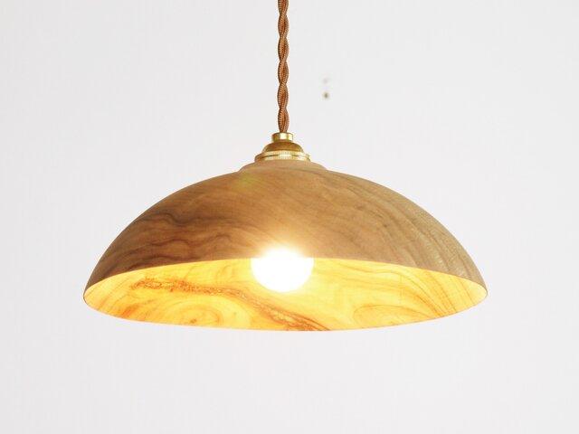 木製 ペンダントランプ 天井照明 楠(クス)材9の画像1枚目