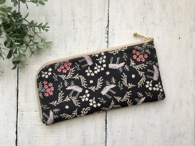 軽くて薄い♪L字長財布  お花の香りの画像1枚目