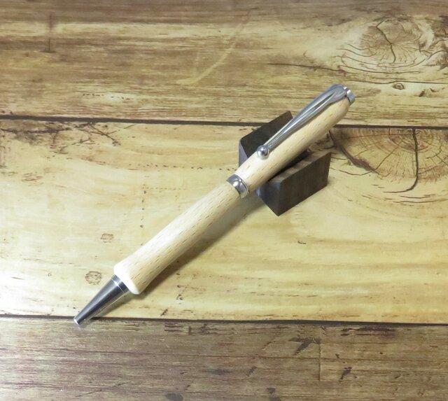 ブナの木で作った手作りボールペンの画像1枚目