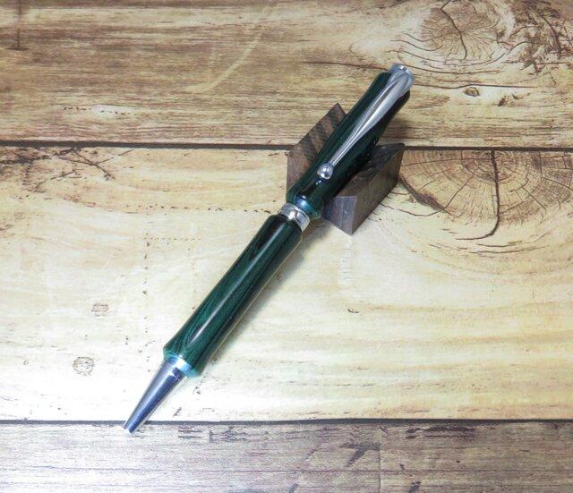 回転式ボールペン【エボナイト・マーブルグリーン】の画像1枚目