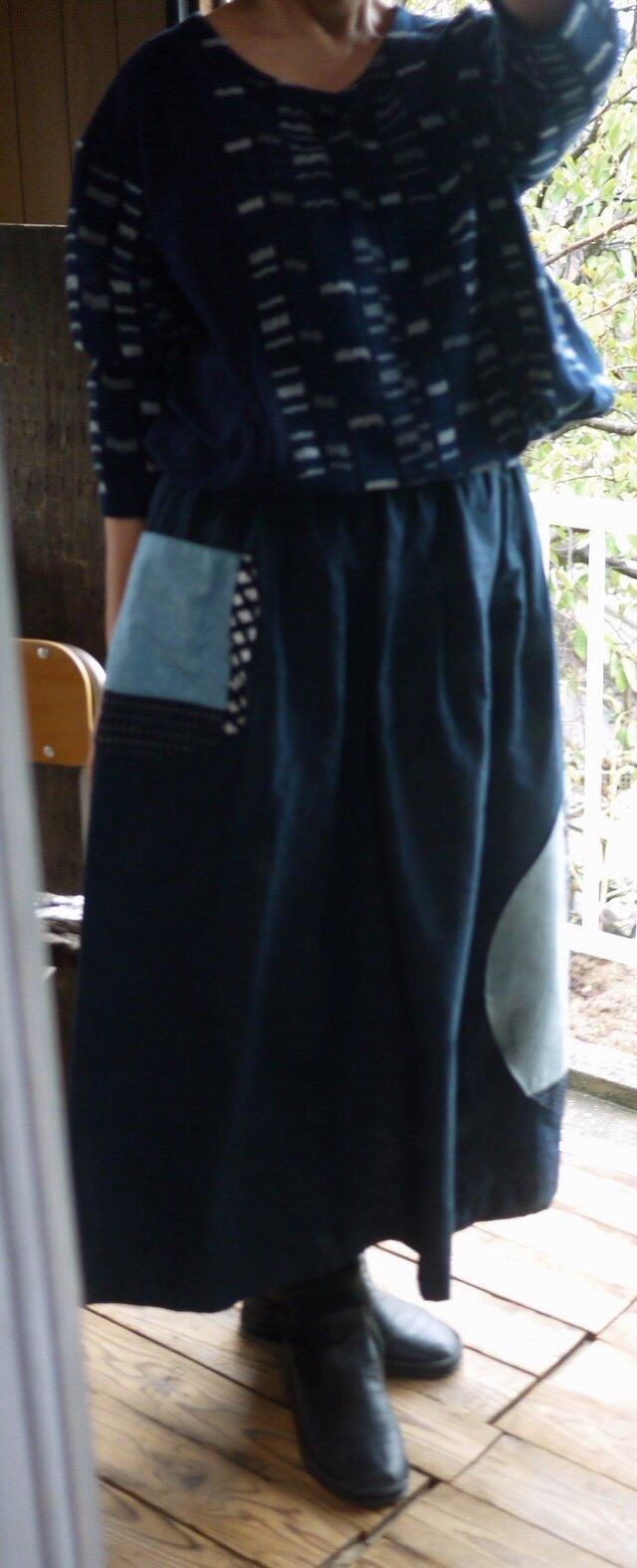 正絹反物からギャザースカートの画像1枚目