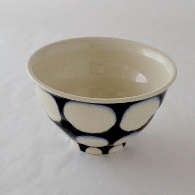 indigo 濃丸紋 飯碗の画像1枚目