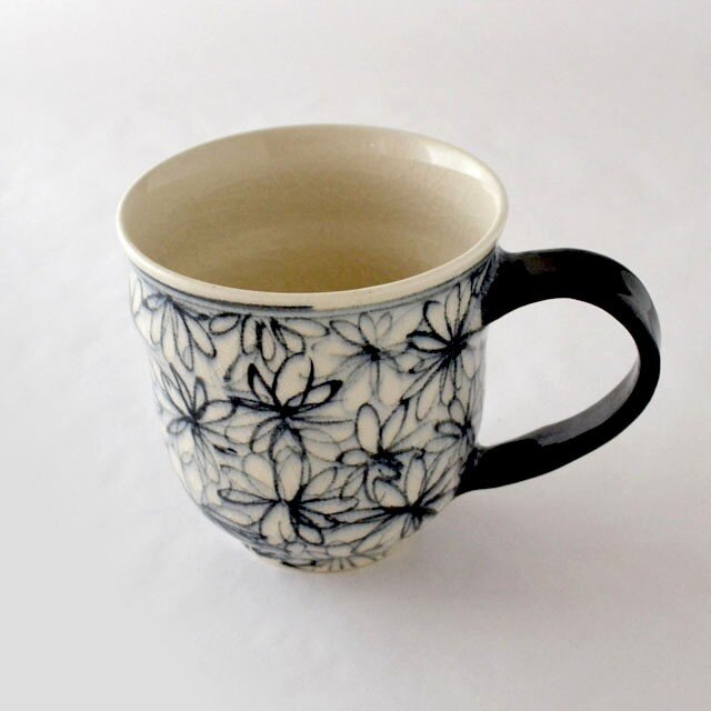indigo 花詰 マグカップの画像1枚目