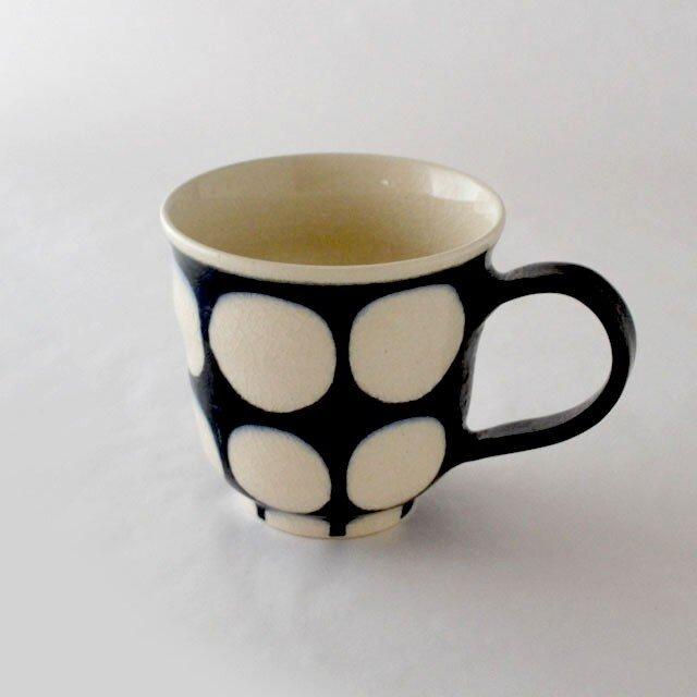 indigo 濃丸紋マグカップの画像1枚目