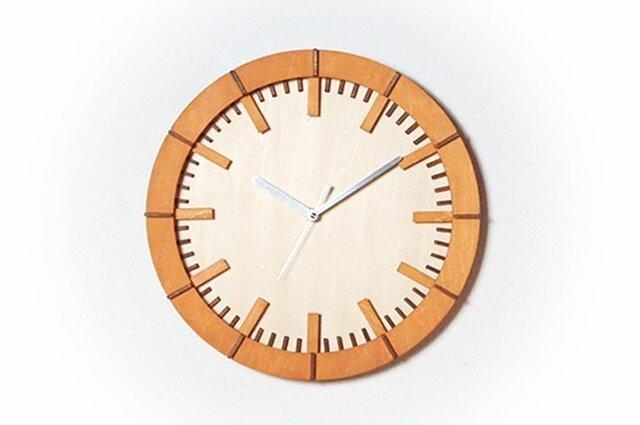 「モダン」 (オーク)木製掛け時計の画像1枚目