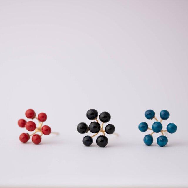 pon 1pair  red / black / blueの画像1枚目