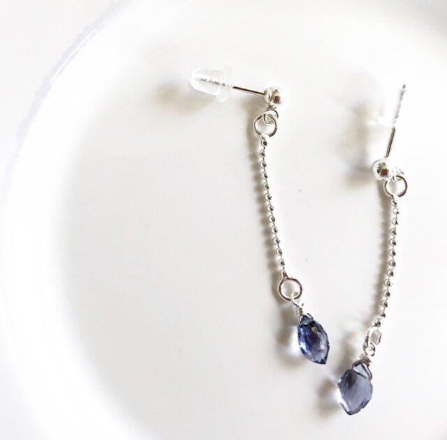 iolite*silver pierceの画像1枚目