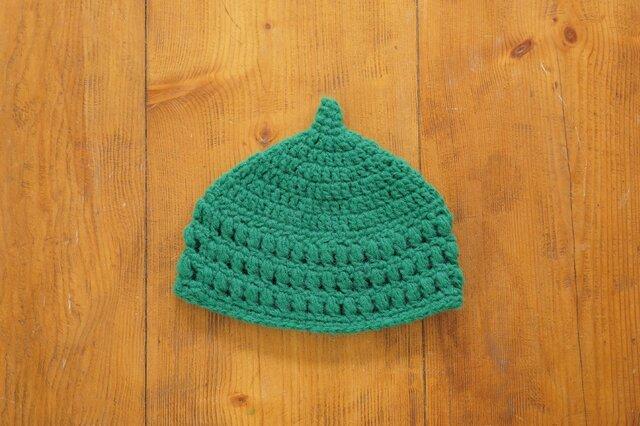 玉編み模様のどんぐり帽子[キッズ]の画像1枚目