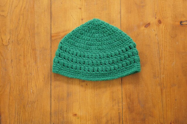 玉編み模様のとんがり帽子[おとな]の画像1枚目