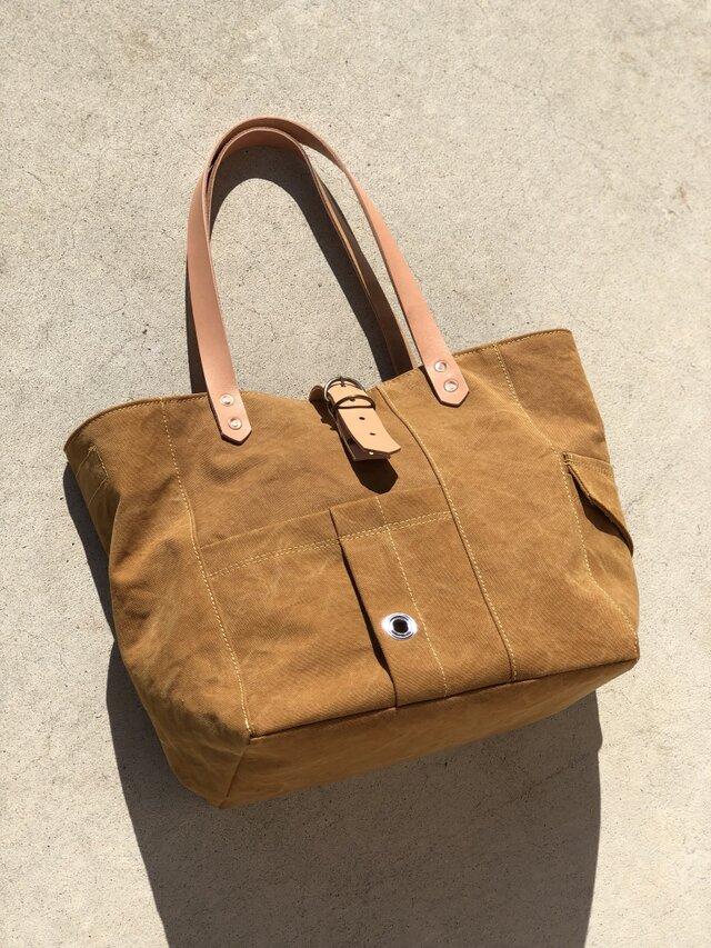宅急便送料無料☆army duc tool  bag M  camelの画像1枚目