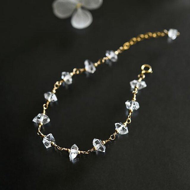 最上級 ハーキマーダイヤモンド ブレスレット 4月の誕生石の画像1枚目