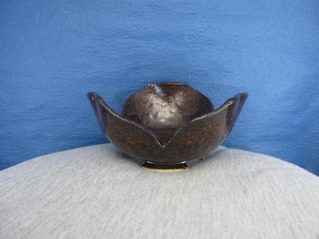陶器 割山椒向付(いらぼ釉)の画像1枚目