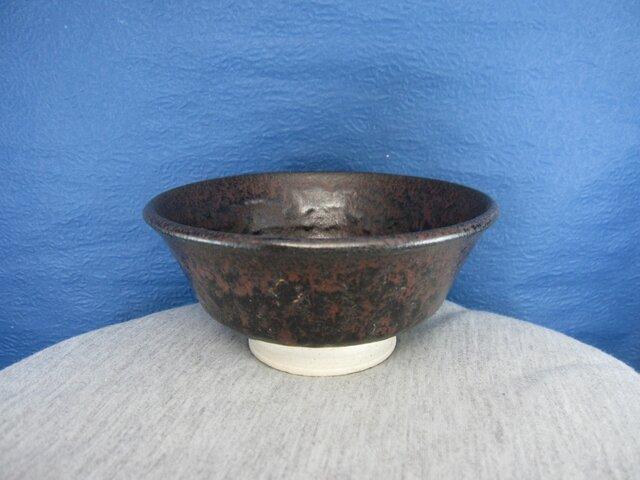 陶器ご飯茶碗(中)いらぼ釉の画像1枚目
