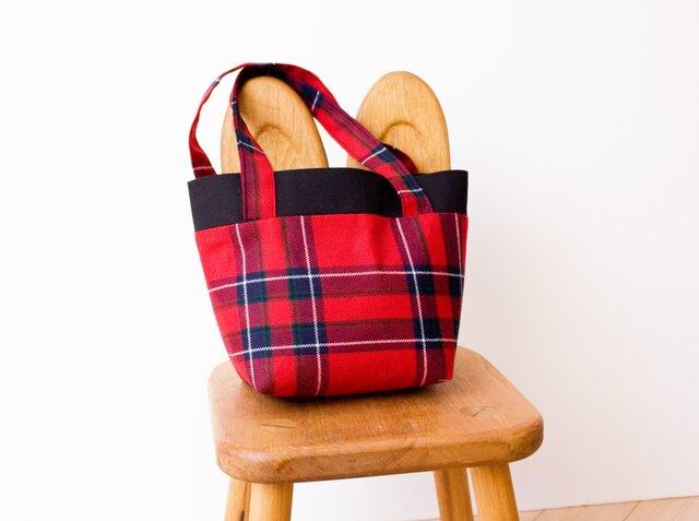 タータンチェックのミニトートバッグ【Inverness】の画像1枚目