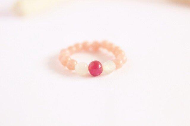 宝石質 ルビー Simple Ring (桜)の画像1枚目