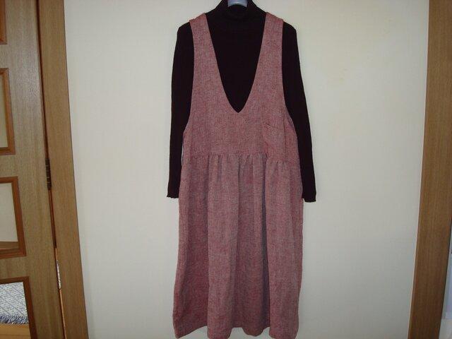 「リネンのジャンパースカート」の画像1枚目
